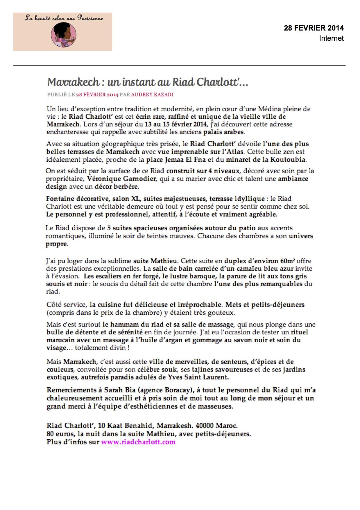 WWW.La Beauté Selon une Parisienne.fr 28:02.pages